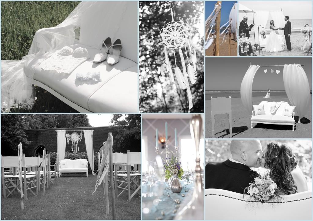 Bruiloftstyling verzorgt door styling a la Carte